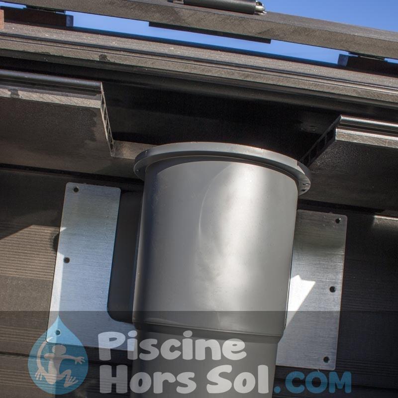 Douche Solaire 35 l PVC Imitation Bois Gre AR1035W