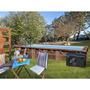 Chaise de plage avec 7 positions et poignée intégrée
