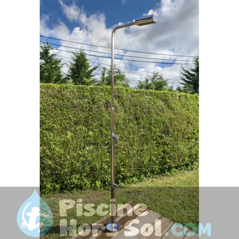 Lit avec repose-bras et dossier 7 positions en aluminium