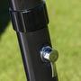 Lit renforcé avec repose-bras et dossier 7 positions en aluminium