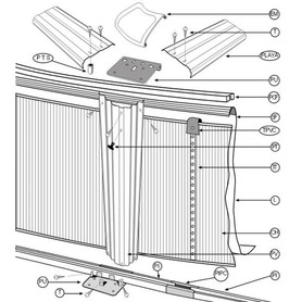Piscine Gre Java 610x375x120 KIT610NRT