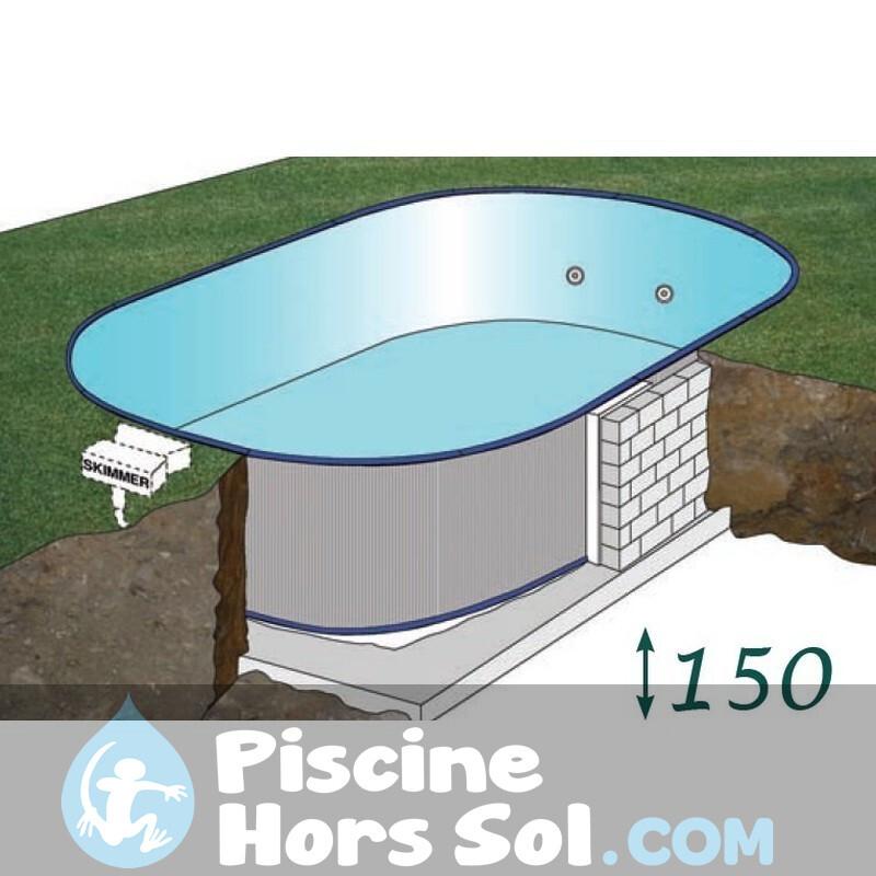 Piscine Gre Enterrée Sumatra 800x400x120 KPEOV8027