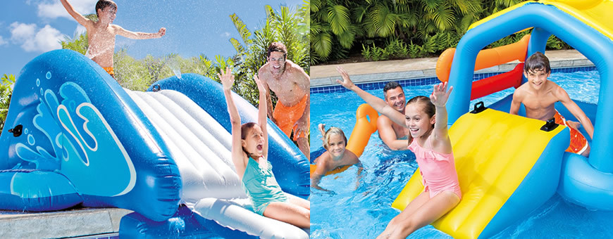 Toboggan pour piscine for Toboggan piscine privee