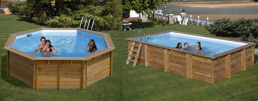 piscine en bois sunbay. Black Bedroom Furniture Sets. Home Design Ideas